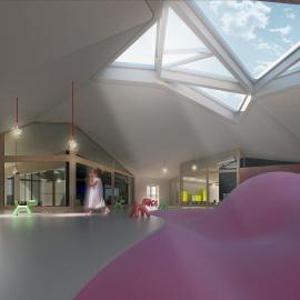 Villa Troili kindergarten Competition - Project: Arch. Mandarelli, Arch. De Conca. Arch. Foglietti, Arch Marino - 3th Place